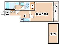 兵庫県神戸市須磨区板宿町3丁目の賃貸アパートの間取り