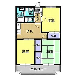 恒吉マンションC棟[2階]の間取り