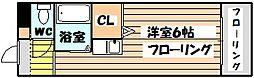パシフィック新大阪[8階]の間取り