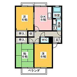 メゾン藤浪II[1階]の間取り