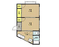 松栄ビル[3階]の間取り