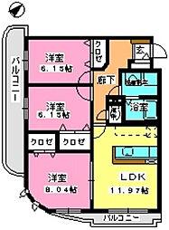 グランシャリオ21[4階]の間取り