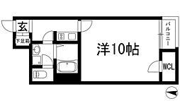 兵庫県川西市東畦野3丁目の賃貸アパートの間取り