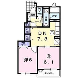 メゾン・ド・ブリアン[1階]の間取り