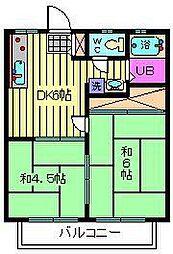 パナトピア並木A・B[B202号室]の間取り
