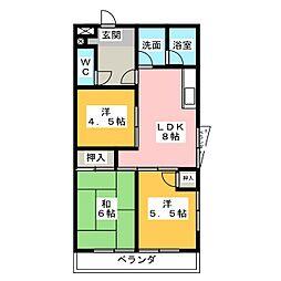 地蔵マンション[3階]の間取り