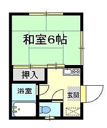 大崎荘[1階号室]の間取り