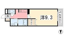 カルザ姫路[407号室]の間取り