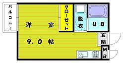 福岡県福岡市東区和白東5丁目の賃貸アパートの間取り