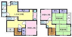 南海高野線 初芝駅 徒歩6分の賃貸一戸建て 2階4LDKの間取り