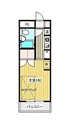 スカイコート淵野辺第4[2階]の間取り