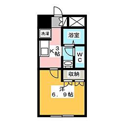 デュー・プレミエ[1階]の間取り