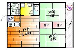 第2三宅コーポ[5階]の間取り