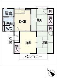 コートビレッジさと A棟[1階]の間取り