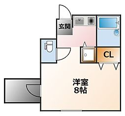 マンションM.S.E[2階]の間取り