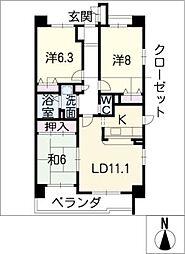 サンコート桃花台 C棟[3階]の間取り