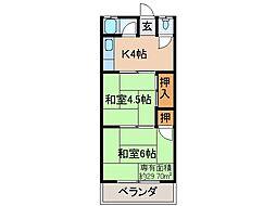 京都府宇治市伊勢田町ウトロの賃貸アパートの間取り