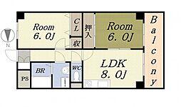 福本ハーバービュースクエア[3階]の間取り