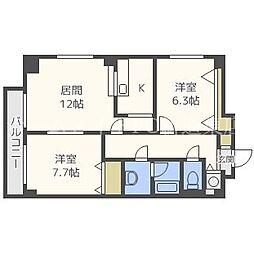 HOTAL8[5階]の間取り