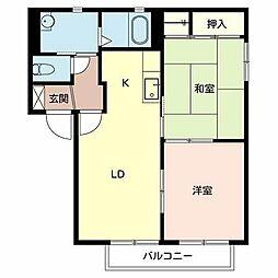 アミ緑町B棟[2階]の間取り