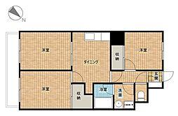 ゆざわマンション[3階]の間取り