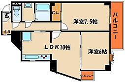 ライオンズマンション西明石[8階]の間取り