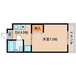 静岡県静岡市駿河区聖一色の賃貸マンションの間取り