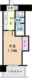 Osaka Metro御堂筋線 西中島南方駅 徒歩7分の賃貸マンション 2階1Kの間取り