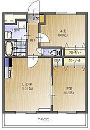 Chez-soi TATSUMI III番館[3階]の間取り