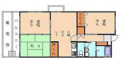 エスポアール那珂[4階]の間取り