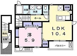 仮称)倉治3丁目Wi-Fiネット無料新築[2階]の間取り