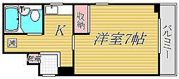東京都目黒区中央町1丁目の賃貸マンションの間取り