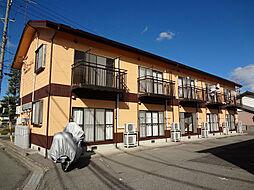 長野県安曇野市三郷明盛の賃貸アパートの外観