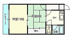 曽根パールマンション[304号室]の間取り