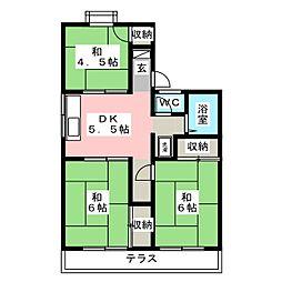 福富パレス A棟[1階]の間取り