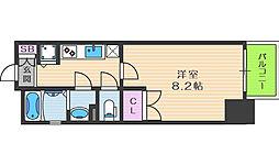 レジュールアッシュ梅田リュクス 10階1Kの間取り