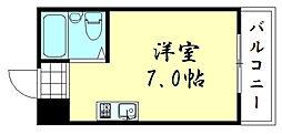 グローバルハイツ鶴橋[3B号室]の間取り