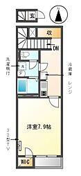 愛知県稲沢市平和町下起中の賃貸アパートの間取り