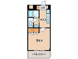和歌山県和歌山市栄谷の賃貸アパートの間取り