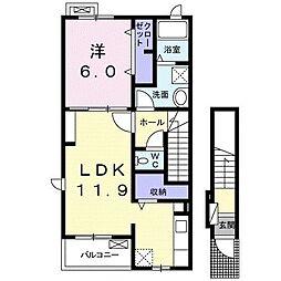 サン・カリーノ[2階]の間取り