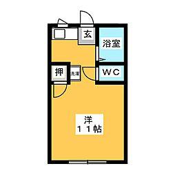 ハイムパシフィック B棟[1階]の間取り