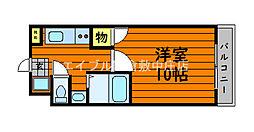 JR山陽本線 新倉敷駅 徒歩6分の賃貸マンション 6階1Kの間取り