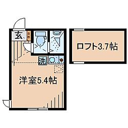 Huvafen Fushi 鶴見[202号室]の間取り
