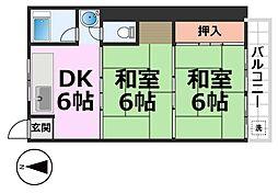 ハイツ新栄[302号室号室]の間取り