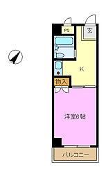ネオポリストキワ[1階]の間取り