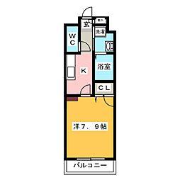 エンクレスト御供所[4階]の間取り