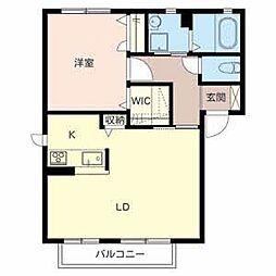 カーサバウム2 A棟[2階]の間取り