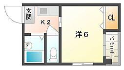 エルシャローム滝井[3階]の間取り
