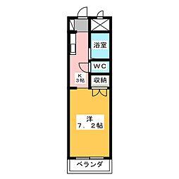 ドルフ春日井[4階]の間取り