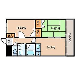メゾンドプラムII[4階]の間取り